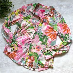 Lilly Pulitzer for Target Tops - Lilly Pulitzer for Target Floral Button Down Shirt